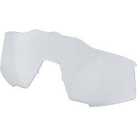 100% Speedcraft HD Multilayer Mirror Glasses Small matte white/blue